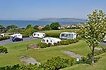 caravan park with stunning north wales sea views