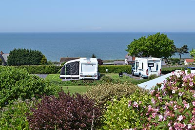 seaview from this touring caravan park in north wales