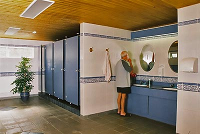touring park toilet block facilities